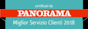 Certificato Panorama Miglior Servizio Clienti 2018